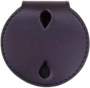 Leather Round Badge Holder