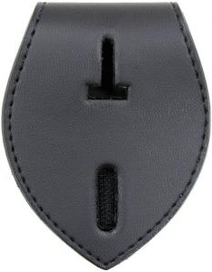 Leather Tear Drop Badge Holder