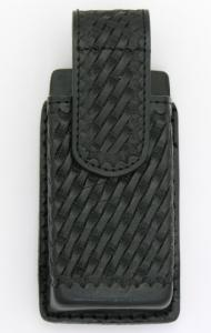 Basketweave Leather Large Cell Phone Holder