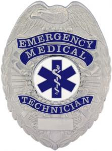 Emergency Medical Technician Metal Shield