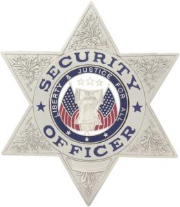 Security Officer 6 Point Metal Star